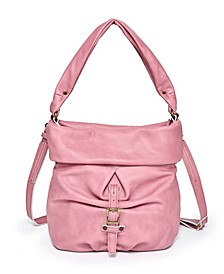 Sweet Lotus Leather Bucket Bag