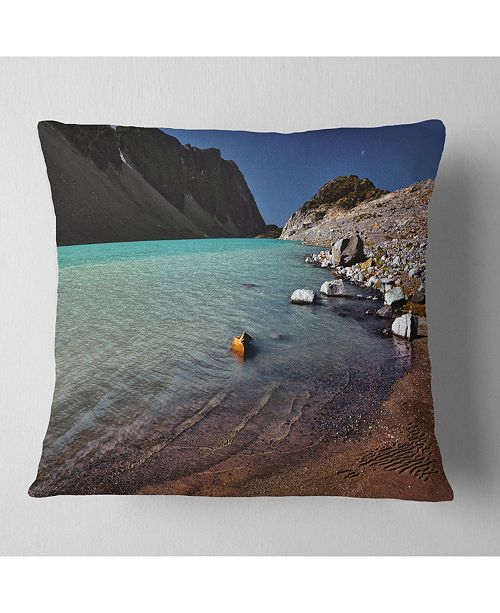 Design Art Designart Bright Blue Waters Of Mountain Lake Landscape Printed Throw Pillow 16 X 16 Reviews Decorative Throw Pillows Bed Bath Macy S