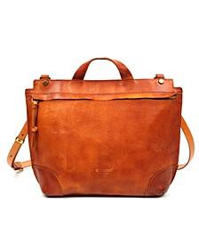 Brookside Leather Messenger Bag