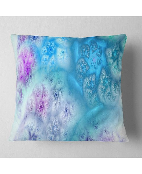 "Design Art Designart Clear Blue Magic Stormy Sky Abstract Throw Pillow - 16"" X 16"""