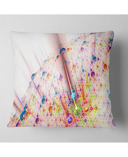 "Design Art Designart Red Blue Solar Bubbles Planet Abstract Throw Pillow - 16"" X 16"""