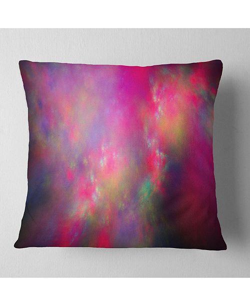 "Design Art Designart Perfect Red Starry Sky Abstract Throw Pillow - 18"" X 18"""