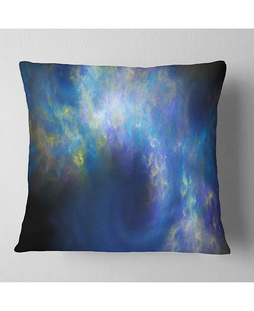 "Design Art Designart Perfect Whirlwind Starry Sky Abstract Throw Pillow - 16"" X 16"""