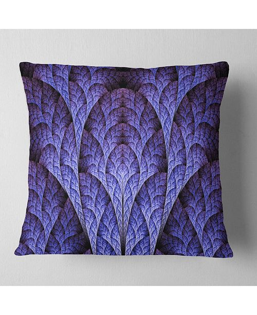 "Design Art Designart Exotic Purple Biological Organism Abstract Throw Pillow - 18"" X 18"""