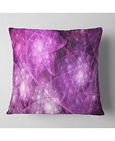 "Designart Pink Rotating Polyhedron Abstract Throw Pillow - 26"" X 26"""