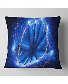 """Designart Blue Star Clusters Abstract Throw Pillow - 26"""" X 26"""""""