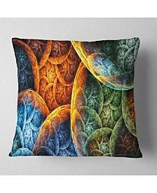 """Designart Vibrant Colorful Clouds Abstract Throw Pillow - 26"""" X 26"""""""