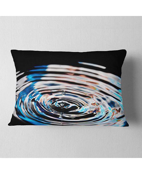 "Design Art Designart Beautiful Splash Of Purple Water Abstract Throw Pillow - 12"" X 20"""
