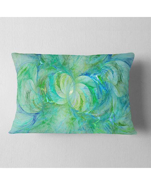 """Design Art Designart Snow Fractal Glass Texture Abstract Throw Pillow - 12"""" X 20"""""""