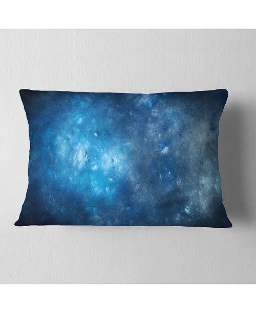 """Design Art Designart Clear Blue Starry Fractal Sky Abstract Throw Pillow - 12"""" X 20"""""""
