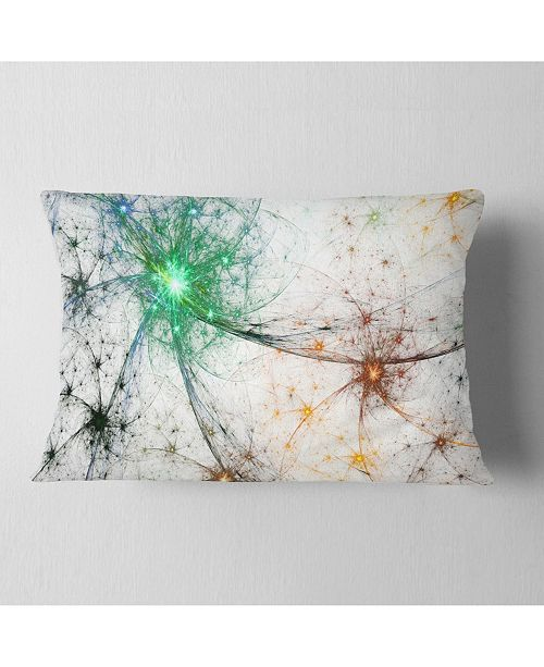 "Design Art Designart Abstract Colorful Fireworks Abstract Throw Pillow - 12"" X 20"""