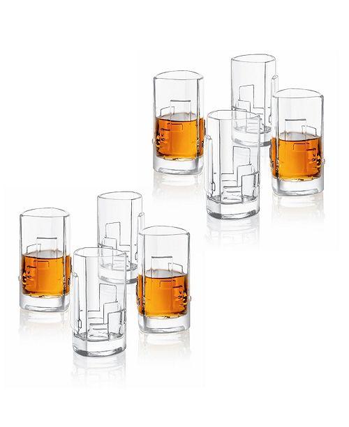 JoyJolt Revere Triangle Shot Glasses, Set of 8