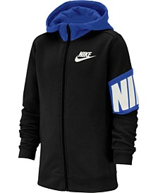 Nike Big Boys Colorblocked Zip-Up Fleece Hoodie