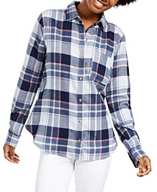 Juniors' Plaid Utility Shirt