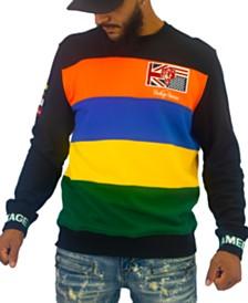 Heritage America Men's Striped Crewneck Sweater