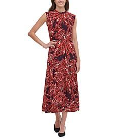 Jersey Printed Midi Dress