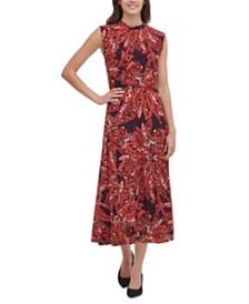 Tommy Hilfiger Jersey Printed Midi Dress