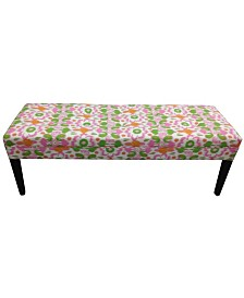 Sole Designs Rio Gumdrop Upholstered Button-Tufted Bench