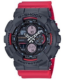 G-Shock Men's Analog-Digital Red Resin Strap Watch 51.2mm