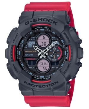 G-Shock Watches G-SHOCK MEN'S ANALOG-DIGITAL RED RESIN STRAP WATCH 51.2MM