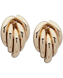 Tubular Clip-On Button Earrings