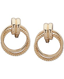 Rope-Detail Clip-On Doorknocker Earrings