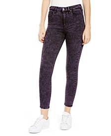 Juniors' Acid Wash Skinny Jeans