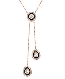 12K Rose Gold-Plated Lariat Necklace