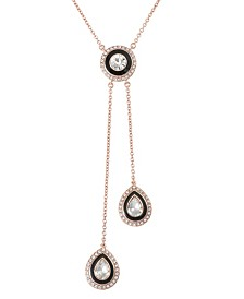 Trifari 12K Rose Gold-Plated Lariat Necklace