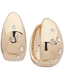 Crystal Sprinkle Huggie Hoop Earrings