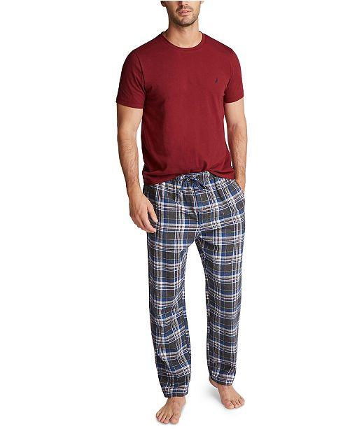 Nautica Men's Plaid Pajama Set