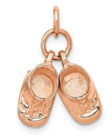 Baby Shoes Charm in 14k Rose Gold