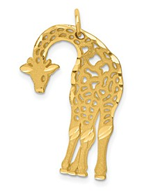 Giraffe Charm in 14k Yellow Gold