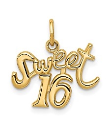 Sweet 16 Charm Necklace in 14k Gold