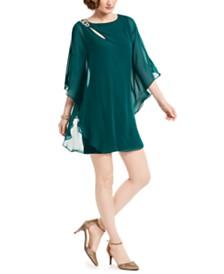 XSCAPE Cutout Overlay Sheath Dress