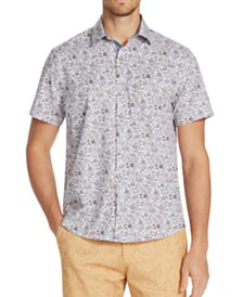 Tallia Men's Slim-Fit Performance Stretch Ornate Floral Short Sleeve Shirt