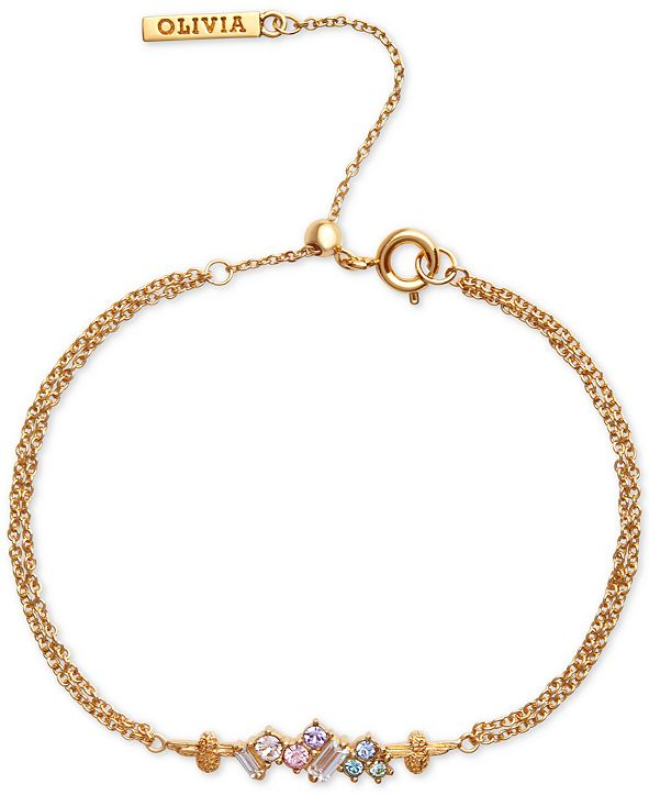 Olivia Burton Swarovski Crystal Bee Bolo Bracelet