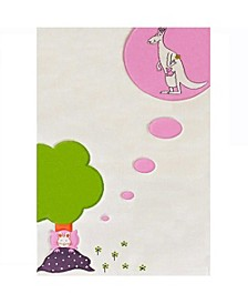 """Dream Soft Nursery Rug with a Playful Design for Kids Bedrooms and Playrooms  - 59""""L x 39""""W Playmat"""