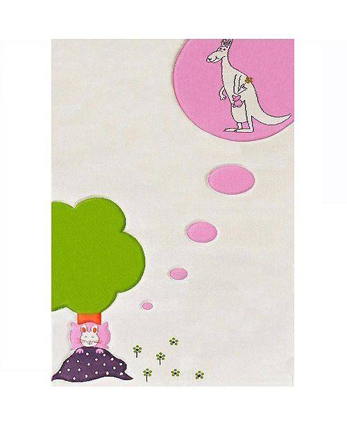 """IVI Dream Soft Nursery Rug with a Playful Design for Kids Bedrooms and Playrooms, Non-Toxic, Hypo-Allergnic, 59""""L x 39""""W Playmat"""