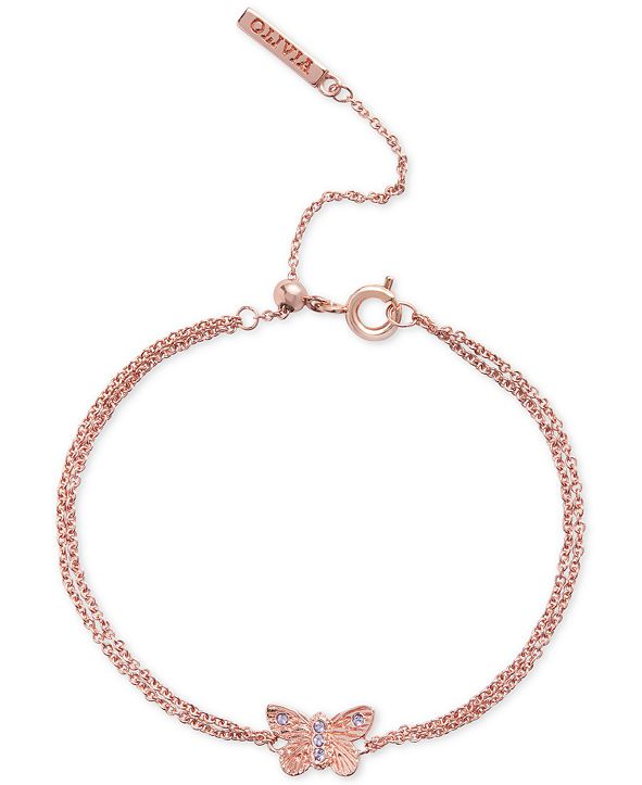 Olivia Burton Quartz Butterfly Chain Bracelet