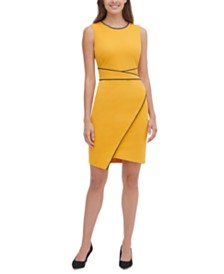 Tommy Hilfiger Piped Sheath Dress