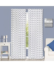 "The Peanutshell 42"" x 84"" Anchor Print Curtain Set"