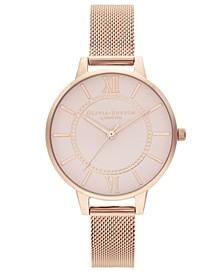 Women's Wonderland Rose Gold-Tone Stainless Steel Mesh Bracelet Watch 34mm