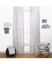 "The Peanutshell 42"" x 84"" Cloud Print Curtain Set"