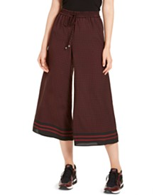 Michael Michael Kors Printed Wide-Leg Cropped Pants