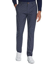 Men's Straight Fit Stretch Heather Plaid Pants