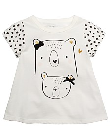 First Impressions Baby Girls Cotton Bears T-Shirt, Created For Macy's