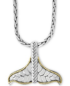 "EFFY® Mermaid Tail 17"" Pendant Necklace in Sterling Silver & 18k Gold"