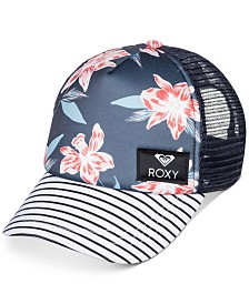 Roxy Big Girls Floral-Print Trucker Cap