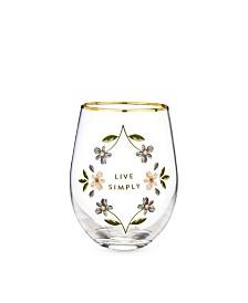 Twine Live Simply Stemless Wine Glass